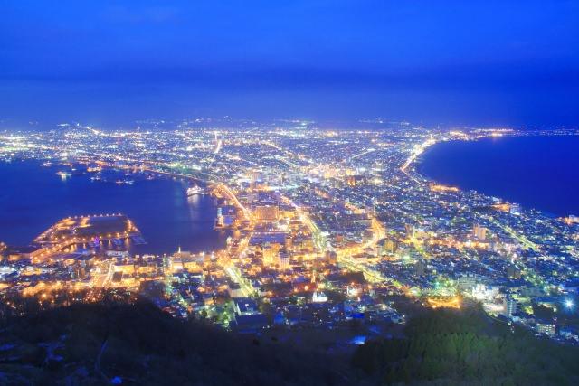 1. ロマンチックな夜景は必見!函館山