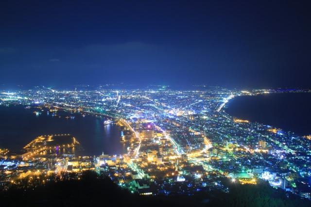 3. 北海道の絶景の夜景を堪能するなら「函館山」
