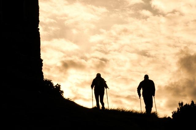 自分の力で登ってみたいなら徒歩で!