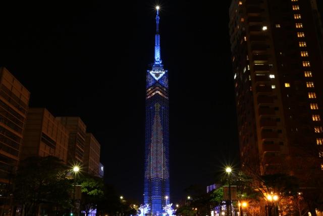 5. 福岡県のシンボルでもある美しい夜景が人気の「福岡タワー」