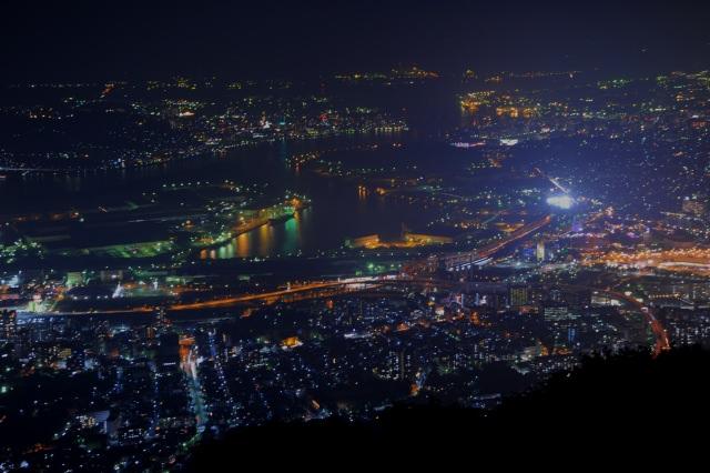 1. 新日本三大夜景の1つとして有名な「皿倉山」