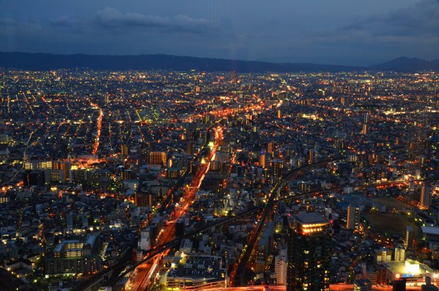 5. The night-view which is all inspiring from the sky scraper in Osaka! [Harukas] 300 (observation deck) Abeno Harukas