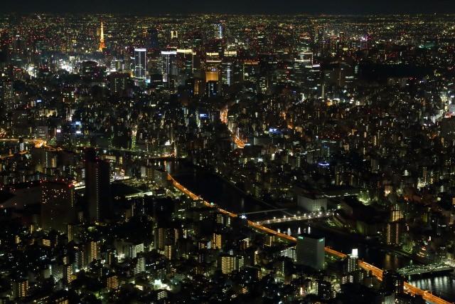 4. 言わずもがな知れた東京の夜景スポット「東京スカイツリー」