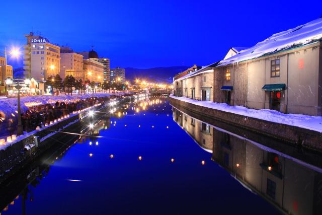 1. 北海道観光には外せない日本有数の運河は必見!「小樽運河」
