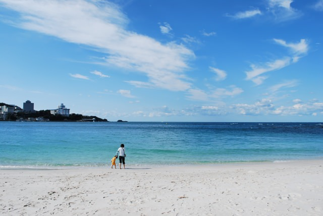 64. 【和歌山県】真っ白な砂浜が美しい日本有数の観光スポット!「白良浜」
