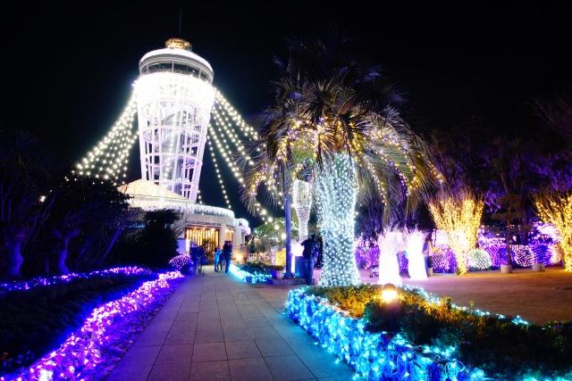 1. ライトアップが美しい「江ノ島シーキャンドル」(江ノ島展望灯台)
