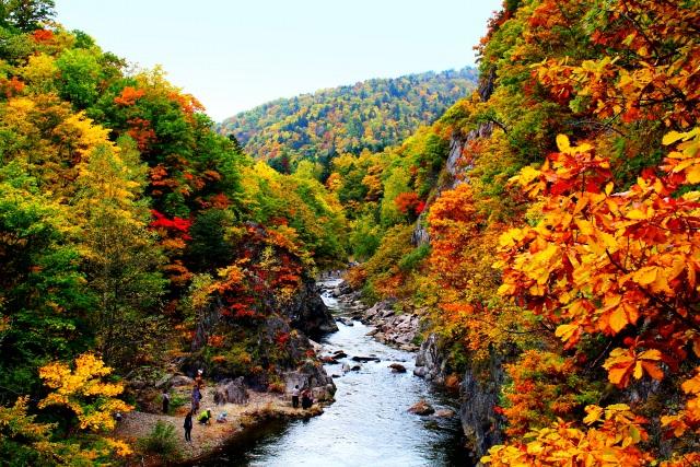 1. 温泉とともに楽しむ札幌の紅葉「定山渓温泉」