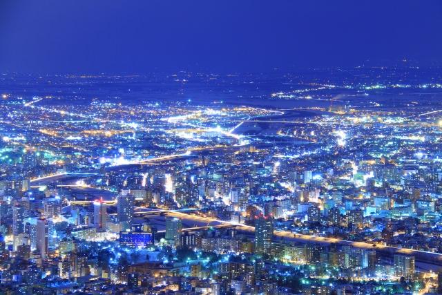 2. 日本三大夜景の1つ!北海道札幌の夜景!「藻岩山」