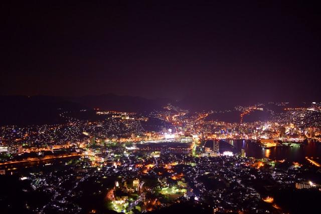1. 日本三大夜景といえばここ!長崎県の夜景スポット「稲佐山」
